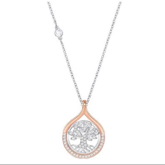4fb04545a7a27 NWT Swarovski tree of life rose gold necklace NWT